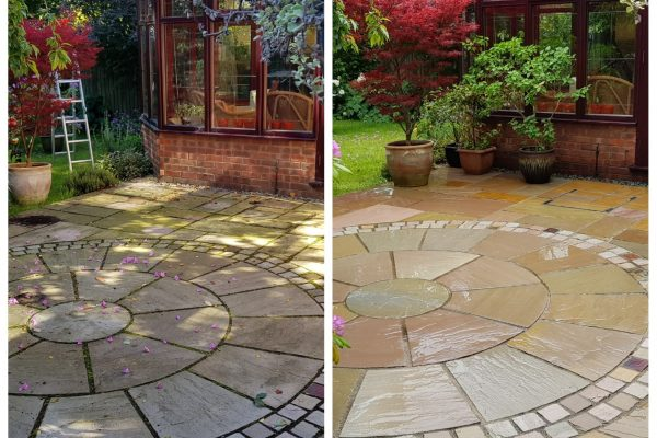 Before and After Patio Milton