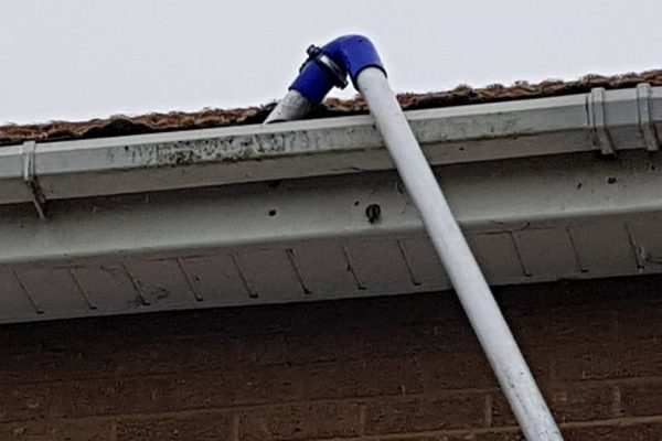 Gutter Cleaning Machine in Action